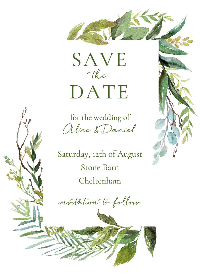 Botanical Meadow Save the Date