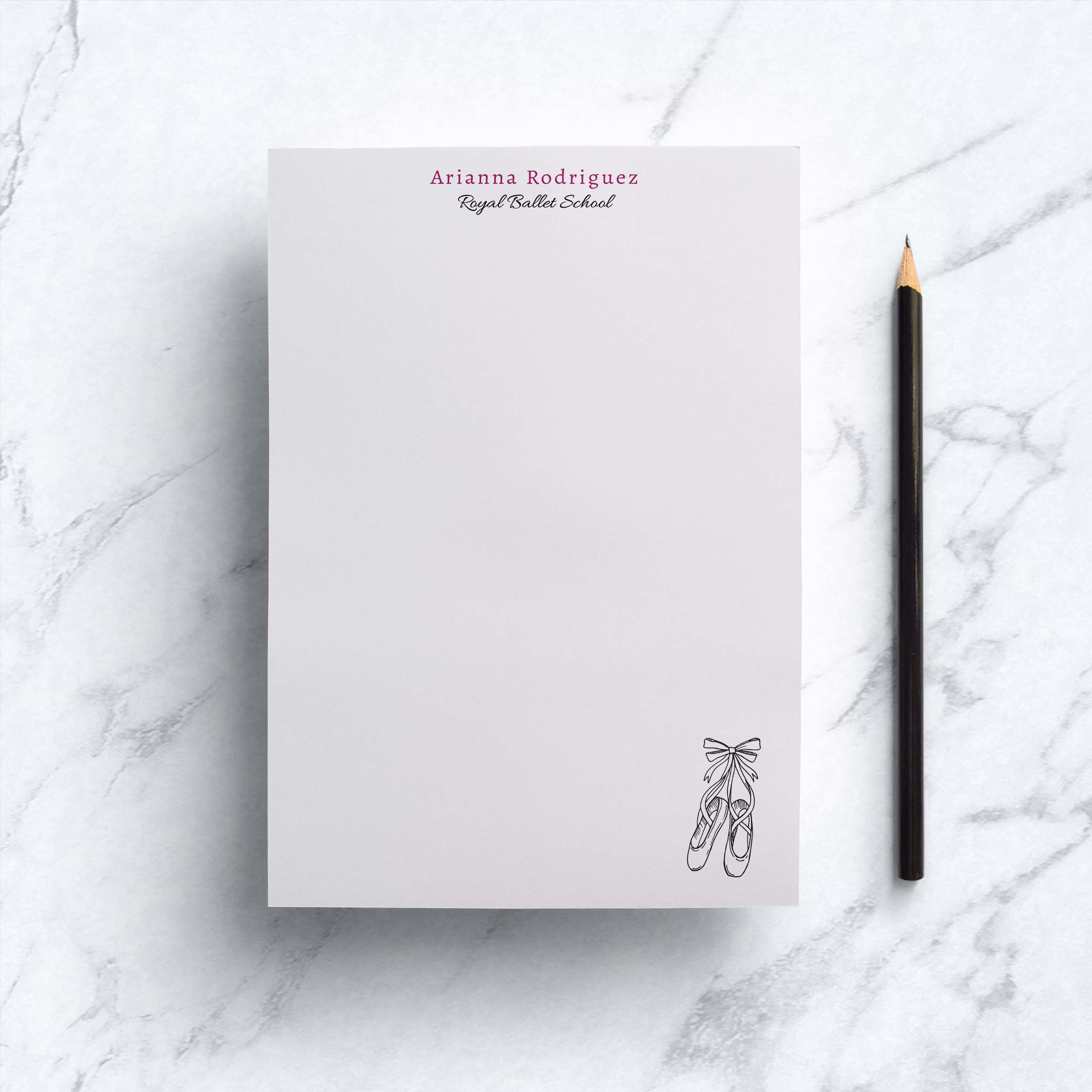 Ballet Shoes Notepad