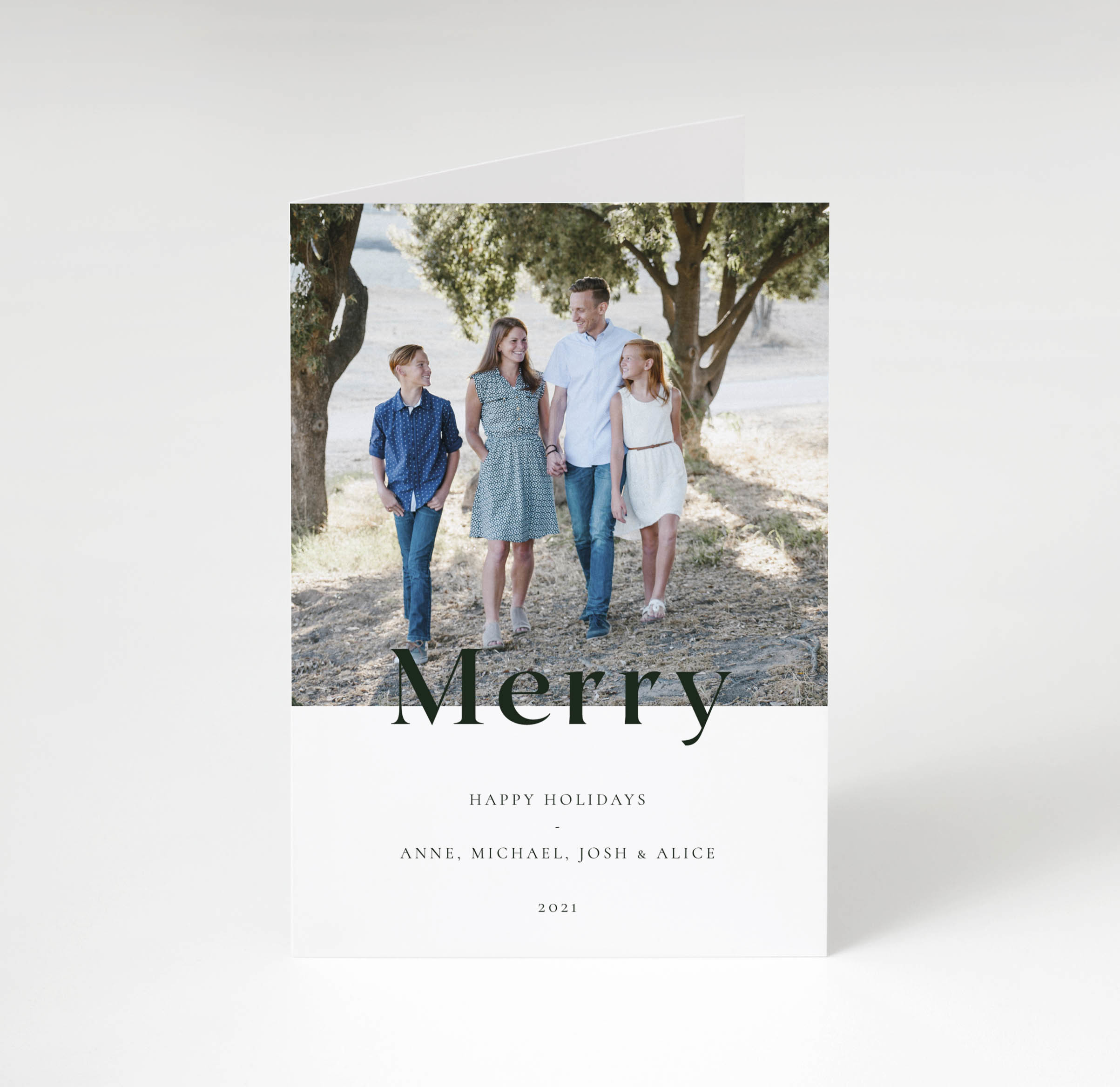 Bold Merry Holiday Card