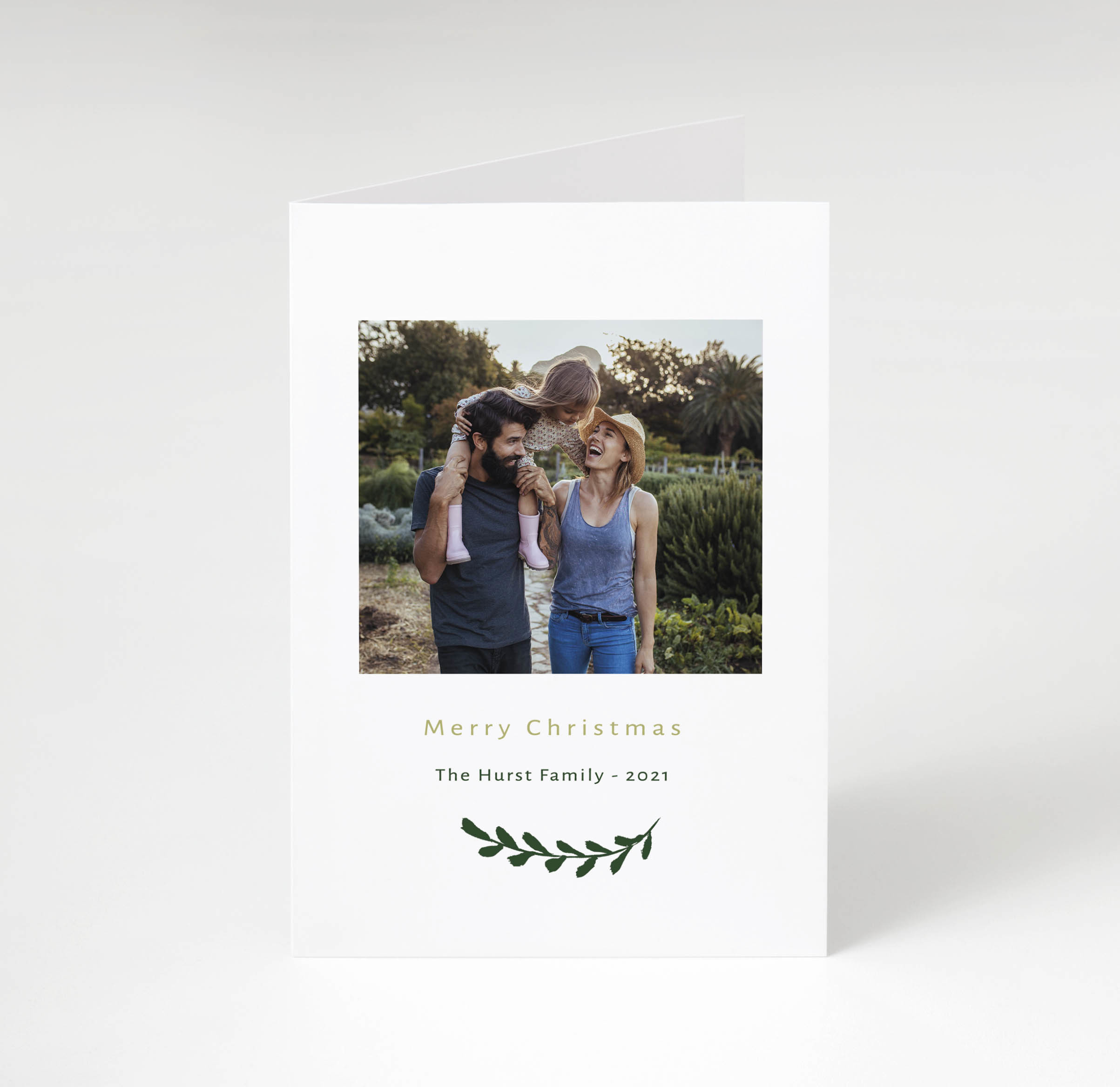 Simple Branch Holiday Card