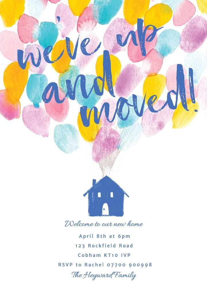 Up and Away Housewarming Invitation