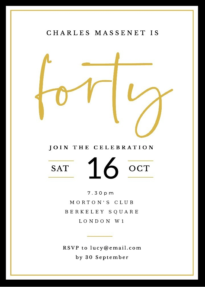 Fabulous Forty Party Invitation