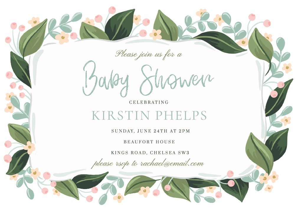 Sweet Blooms Baby Shower Invitation